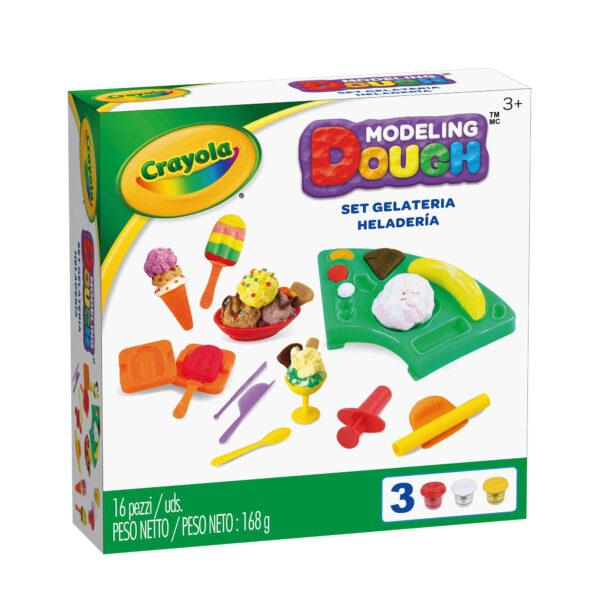 Pasta da modellare - Set Gelateria Crayola ALTRO Unisex 12-36 Mesi, 3-5 Anni, 5-8 Anni, 8-12 Anni ALTRI