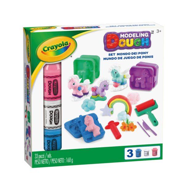 Pasta da modellare - Set Mondo dei Pony Crayola ALTRO Unisex 12-36 Mesi, 3-5 Anni, 5-8 Anni, 8-12 Anni ALTRI