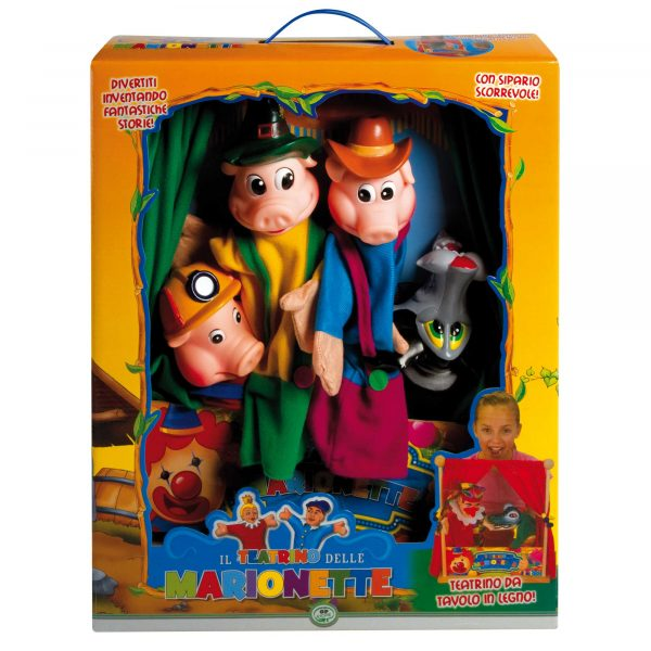 WOOD'N PLAY Teatrino in legno con marionette WOOD 'N' PLAY Unisex 12-36 Mesi, 3-5 Anni, 5-8 Anni, 8-12 Anni ALTRI