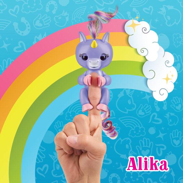 Giochi Preziosi - Fingerlins Unicorno Alika - Altro - Toys Center ALTRI Femmina 12+ Anni, 8-12 Anni ALTRO