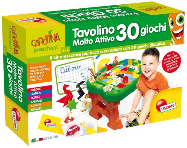 Carotina tavolino molto attivo 30 giochi CAROTINA Unisex 12-36 Mesi, 3-4 Anni, 3-5 Anni, 5-7 Anni, 5-8 Anni ALTRI