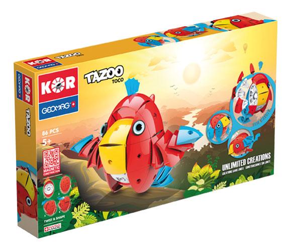 KOR Tazoo Toco - GEOMAGWORLD - Marche KOR Unisex 3-5 Anni, 5-7 Anni, 5-8 Anni, 8-12 Anni ALTRI
