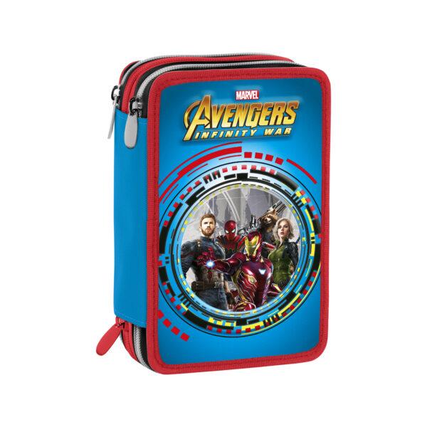 ASTUCCIO 3 ZIP AVENGERS - Marvel - Toys Center Marvel Maschio 5-8 Anni, 8-12 Anni Avengers