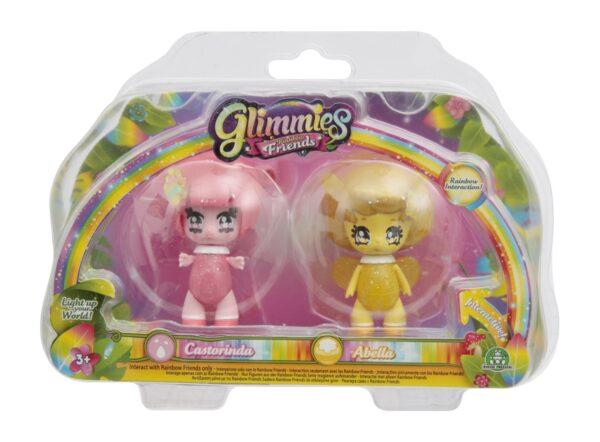 Glimmies Rainbow Friends Blister doppio, Castorinda & Abella - GLIMMIES - Personaggi collezionabili