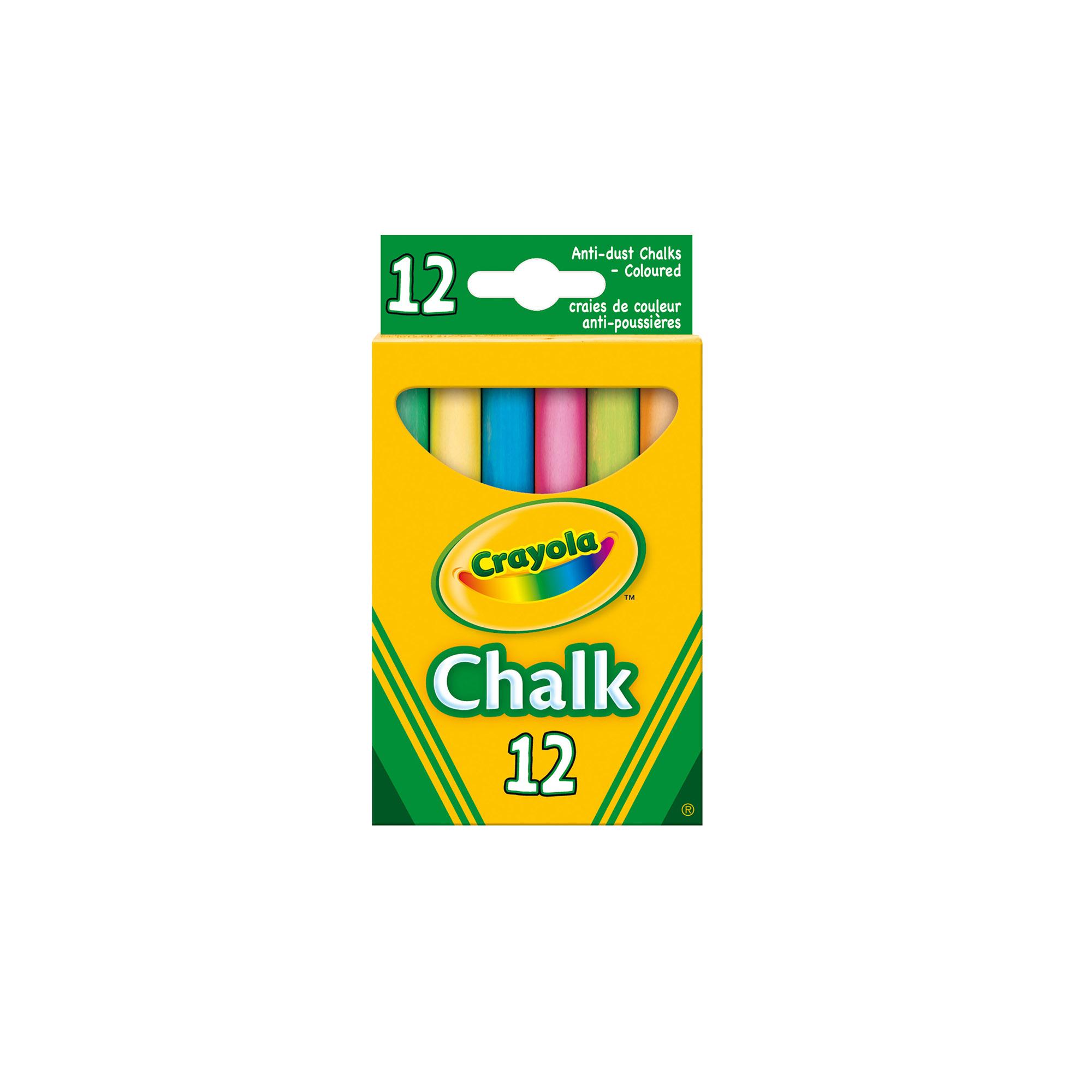 12 gessi antipolvere colorati crayola - ALTRO