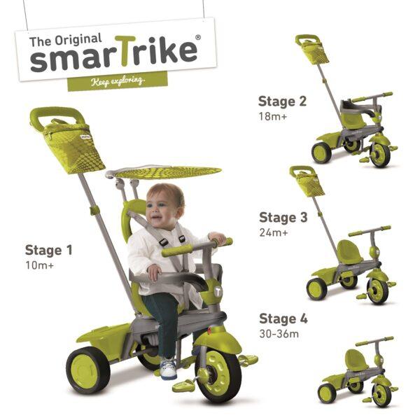 SMART TRIKE VANILLA VERDE - Bici, Tricicli e Giochi cavalcabili - Estate SMART TRIKE Unisex 0-12 Mesi, 0-2 Anni, 12-36 Mesi, 3-4 Anni, 3-5 Anni ALTRI