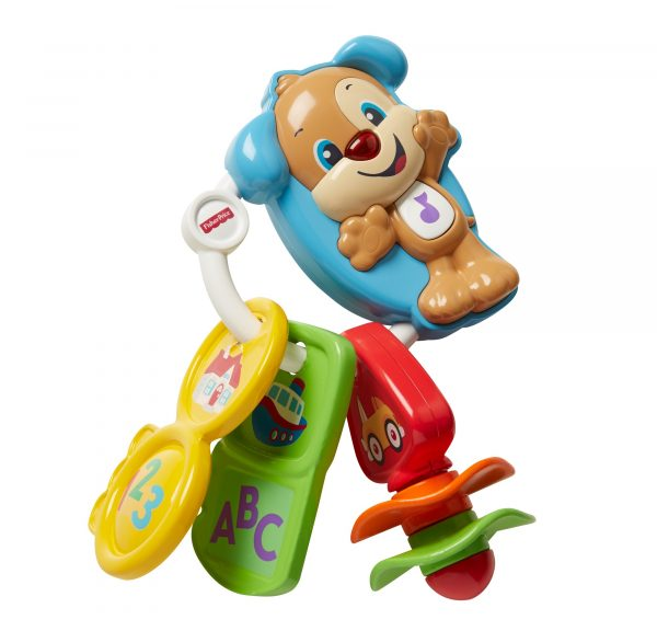 Fisher Price - Chiavi Conta e Vai, dentaruolo giocattolo elettronico ridi impara 6-36 mesi - FPH60 - Fisher Price - Toys Center FISHER-PRICE Unisex 0-12 Mesi, 12-36 Mesi ALTRI