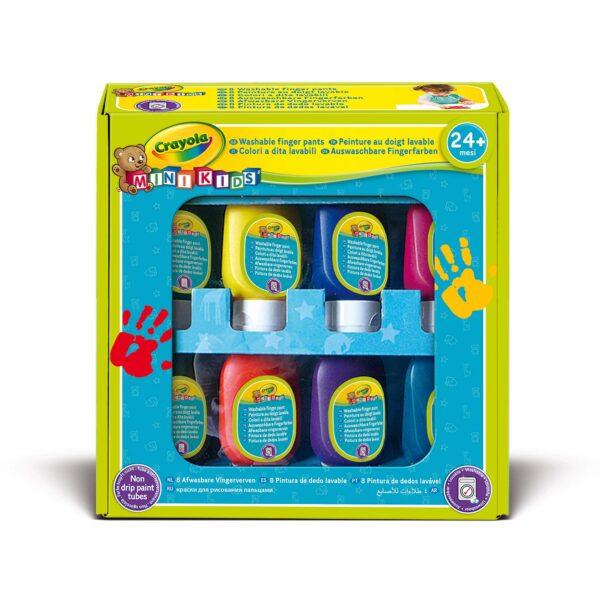 Set inizio a pitturare con le dita MiniKids Crayola CRAYOLA Unisex 12-36 Mesi, 3-5 Anni, 5-8 Anni ALTRI