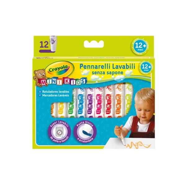 12 Pennarelli lavabili MiniKids Crayola - BINNEY & SMITH - Marche CRAYOLA Unisex 0-12 Mesi, 12-36 Mesi, 3-5 Anni, 5-8 Anni ALTRI