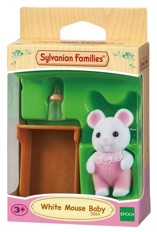 Bebè topolino bianco - SYLVANIAN FAMILIES - Playset e accessori per personaggi d'azione