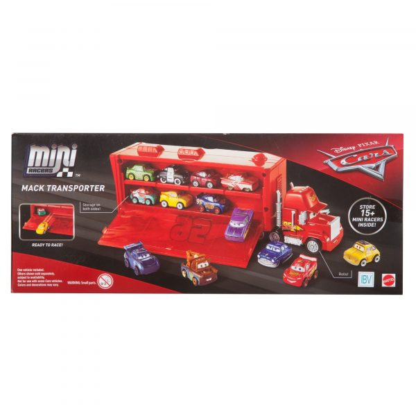 CARS Cars 3 - Mack Trasportatore Mini Racers, con un Mini Racer incluso, può contenere fino a 16 Mini Racers - FLG70 - Disney - Pixar - Toys Center DISNEY - PIXAR 12+ Anni, 8-12 Anni Maschio