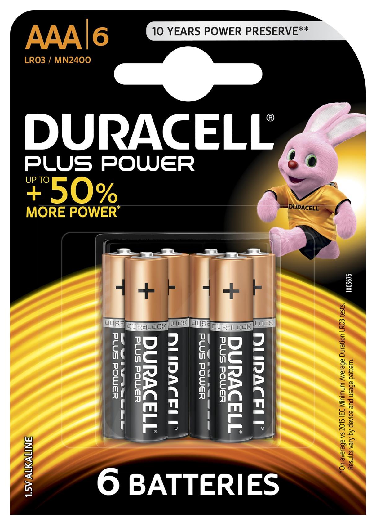 Duracell plus power aaa b6 - età - ALTRO