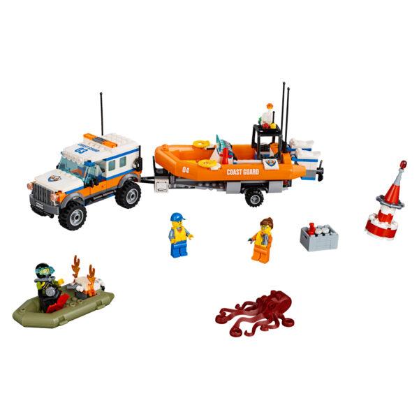 60165 - Unità di risposta con il fuoristrada 4x4 - LEGO CITY - Costruzioni
