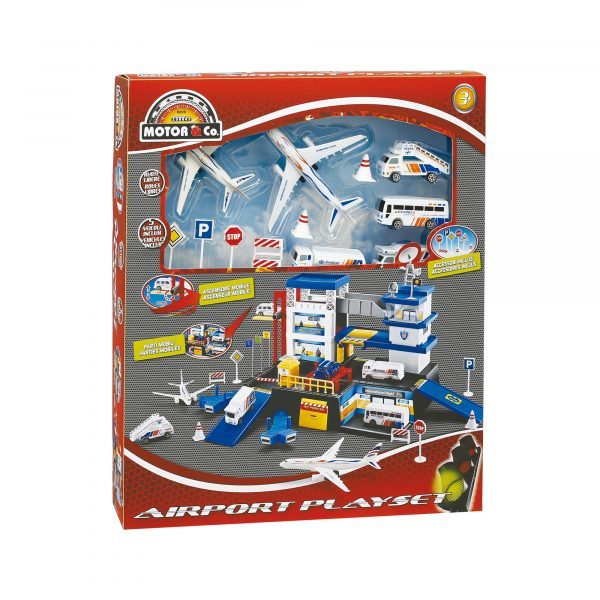 Airport playset - Motor&co - Toys Center - MOTOR&CO - Set di veicoli e accessori