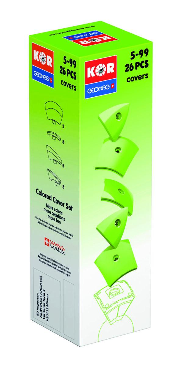KOR Color Cover Green - GEOMAGWORLD - Marche ALTRI Unisex 3-5 Anni, 5-7 Anni, 5-8 Anni, 8-12 Anni KOR