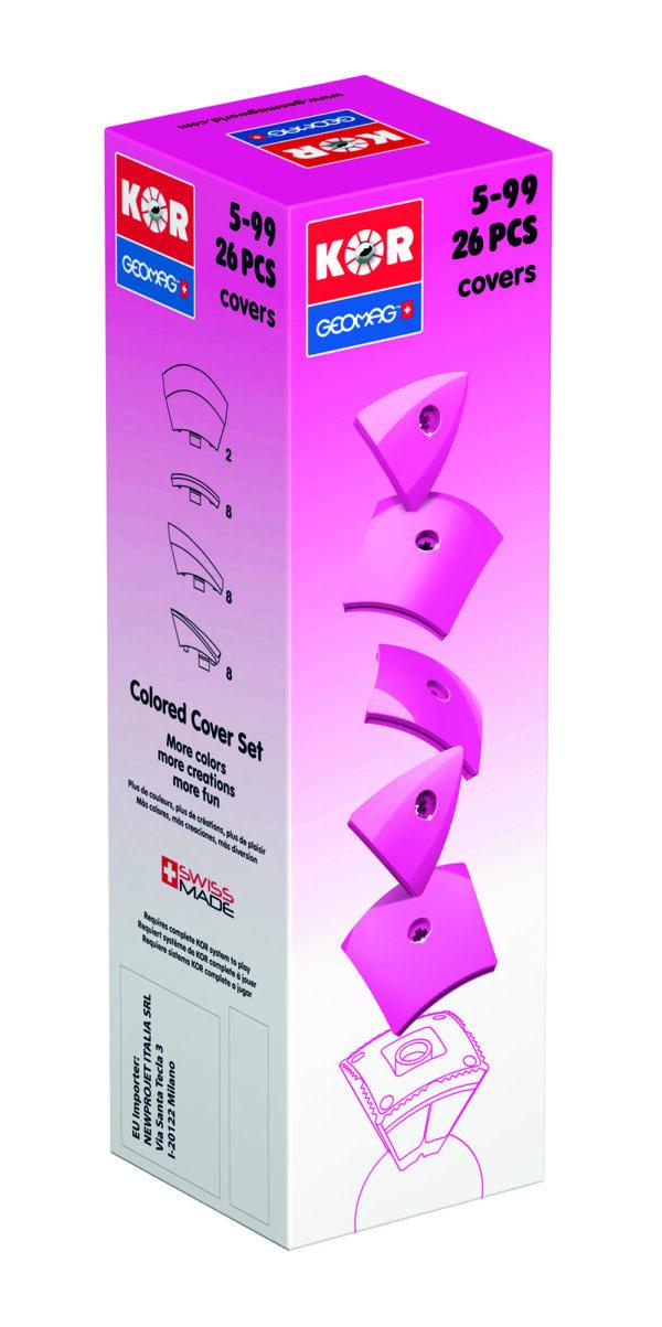 KOR Color Cover Pink - GEOMAGWORLD - Marche ALTRI Unisex 3-5 Anni, 5-7 Anni, 5-8 Anni, 8-12 Anni KOR