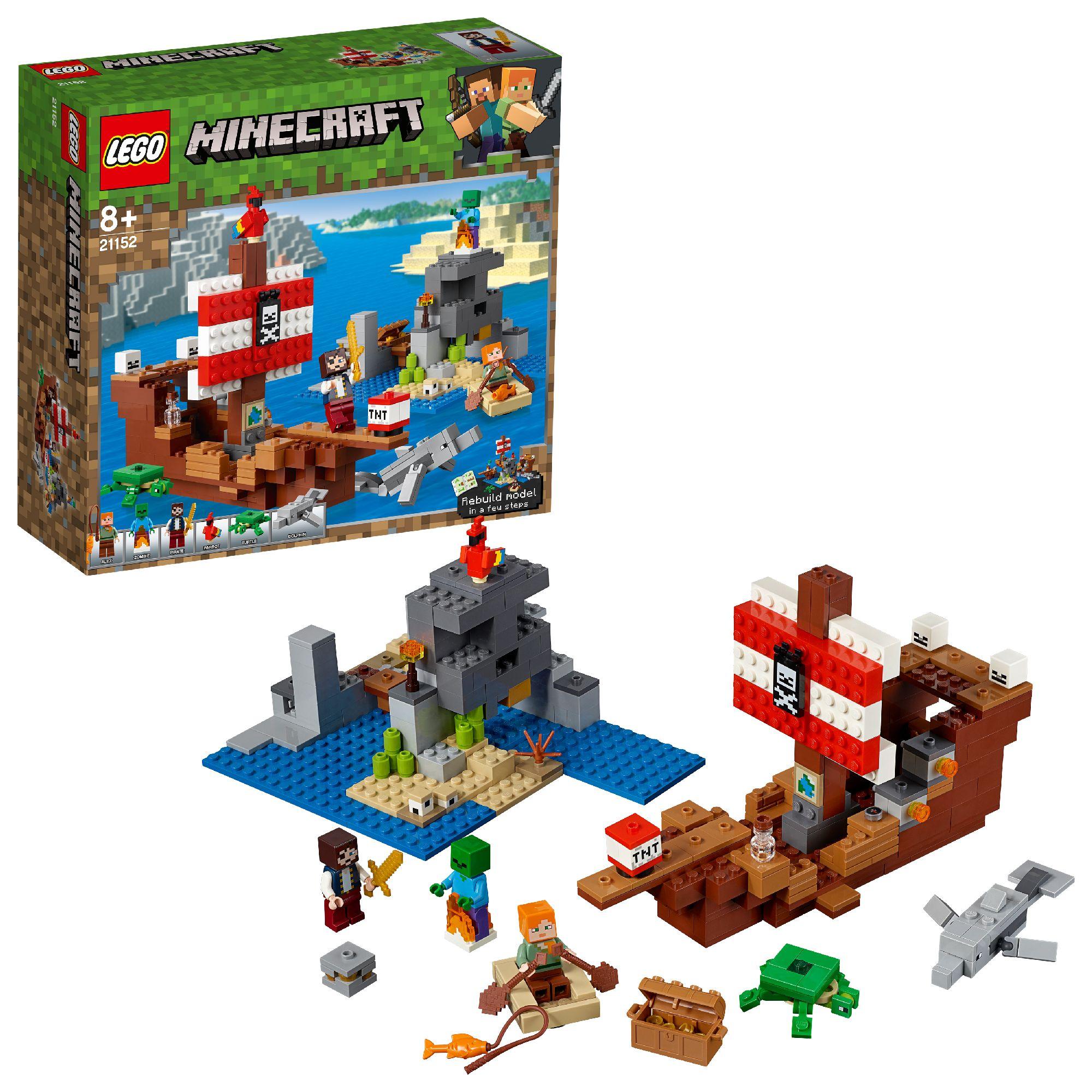 LEGO minecraft ZOMBIE CON ASCIA personaggio minifig