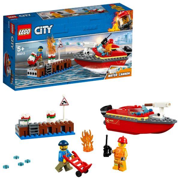 60213 - Incendio al porto LEGO CITY Unisex 12+ Anni, 3-5 Anni, 5-8 Anni, 8-12 Anni ALTRI