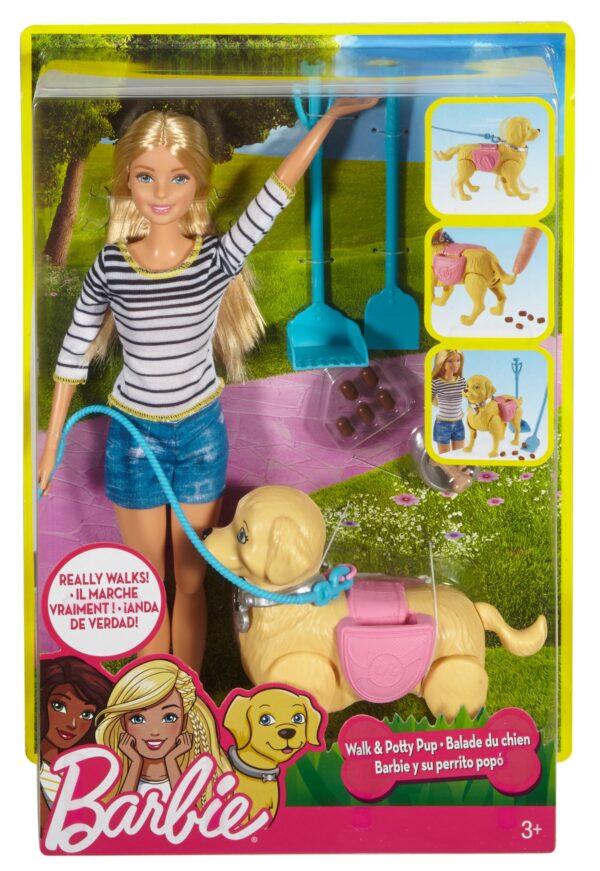 Barbie a Spasso coi Cuccioli Femmina 3-4 Anni, 5-7 Anni, 5-8 Anni, 8-12 Anni ALTRI Barbie