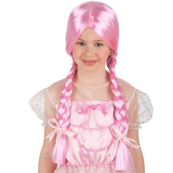 Parrucca rosa con trecce bimba ALTRO Unisex 12-36 Mesi, 12+ Anni, 3-5 Anni, 5-8 Anni, 8-12 Anni ALTRI