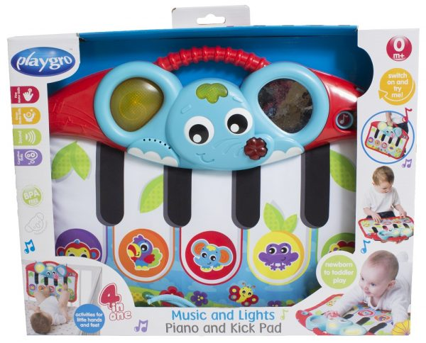 Music Lights Piano & Kick pad - PLAYGRO - Marche ALTRO Unisex 0-12 Mesi, 12-36 Mesi ALTRI