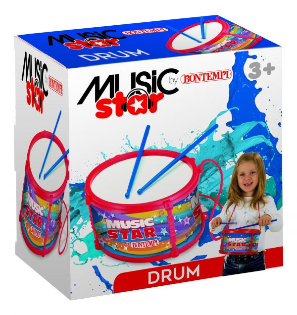 MUSIC STAR Tamburo grande MUSICSTAR Unisex 12-36 Mesi, 3-5 Anni, 5-8 Anni ALTRI