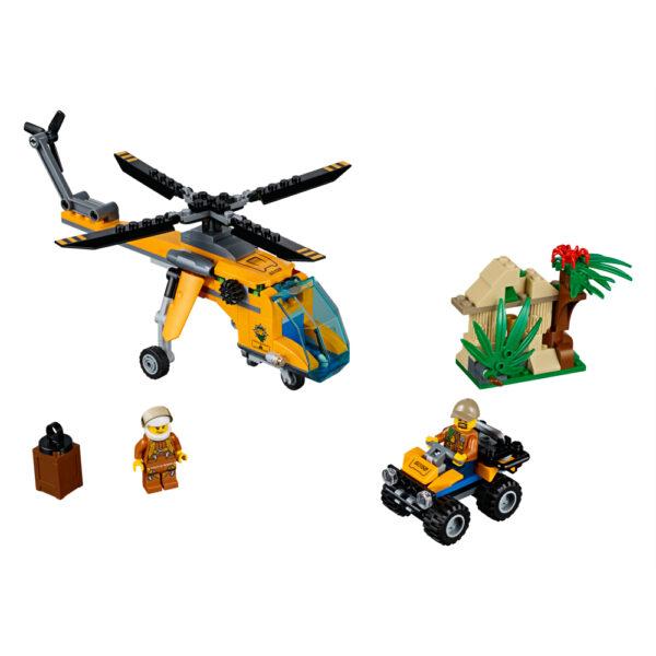 LEGO CITY JURASSIC WORLD LEGO City - Elicottero da carico della giungla -60158 Maschio 12+ Anni, 5-8 Anni, 8-12 Anni