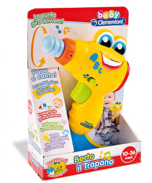 CLEMENTONI - 14903 - Berto il Trapano - Baby Clementoni - Toys Center ALTRI Unisex 0-12 Mesi, 12-36 Mesi, 3-5 Anni BABY CLEMENTONI