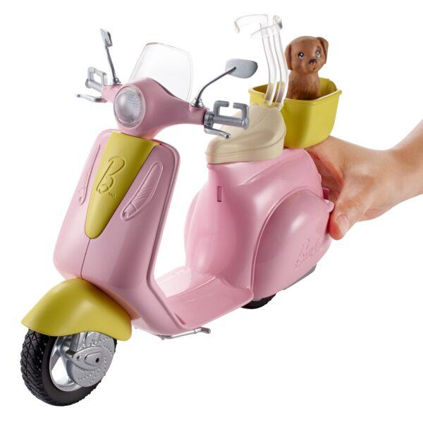 ALTRI Barbie Femmina 12-36 Mesi, 12+ Anni, 8-12 Anni Barbie – Scooter & Cagnolino, con cucciolo e casco inclusi