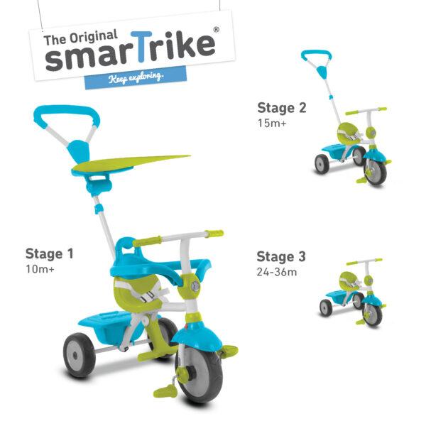 SMART TRIKE ZIP BLU - SMART TRIKE - Marche ALTRI Maschio 0-12 Mesi, 12-36 Mesi, 3-5 Anni SMART TRIKE