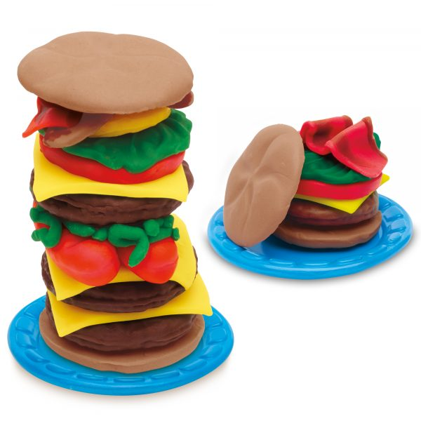 ALTRI PLAY-DOH Unisex 12-36 Mesi, 3-4 Anni, 3-5 Anni, 5-7 Anni, 5-8 Anni Burger Set