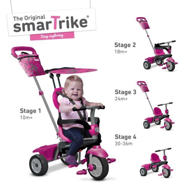 SMART TRIKE VANILLA ROSA 4IN1 - SMART TRIKE - Marche - SMART TRIKE - Bici, Tricicli e Cavalcabili a pedali