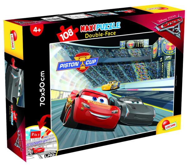 PUZZLE DF SUPERMAXI 108 CARS 3 TIT 3 DISNEY - PIXAR Unisex 12-36 Mesi, 3-5 Anni, 5-8 Anni, 8-12 Anni CARS