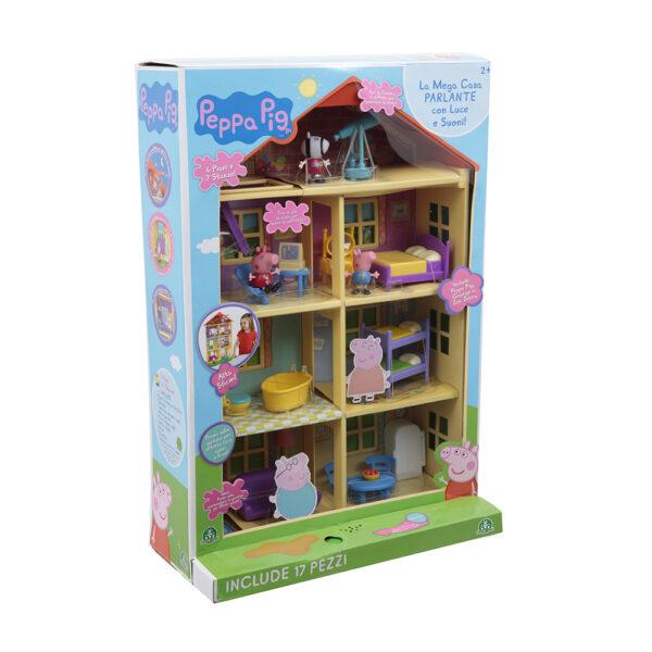 Giochi Preziosi - Peppa Pig Mega Casa, con 3 Personaggi e accessori PEPPA PIG Unisex 12-36 Mesi, 3-5 Anni, 5-8 Anni PEPPA PIG