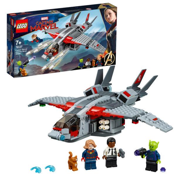76127 - Captain Marvel e l'attacco dello Skrull - Lego Super Heroes - Toys Center LEGO SUPER HEROES Unisex 12+ Anni, 5-8 Anni, 8-12 Anni ALTRI