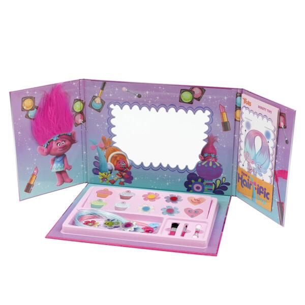Trolls - Make up Artist book, set trucchi bambina con ombretti e lucidalabbra TROLLS Femmina 12-36 Mesi, 3-5 Anni, 5-7 Anni, 5-8 Anni, 8-12 Anni ALTRO