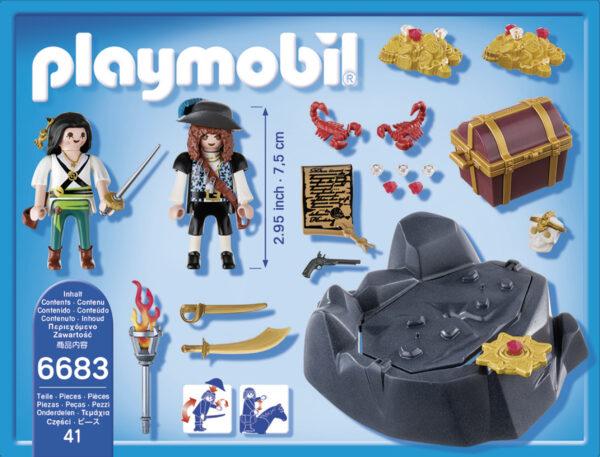 Nascondiglio del tesoro ALTRI Maschio 3-4 Anni, 3-5 Anni, 5-7 Anni, 5-8 Anni, 8-12 Anni Playmobil Pirates