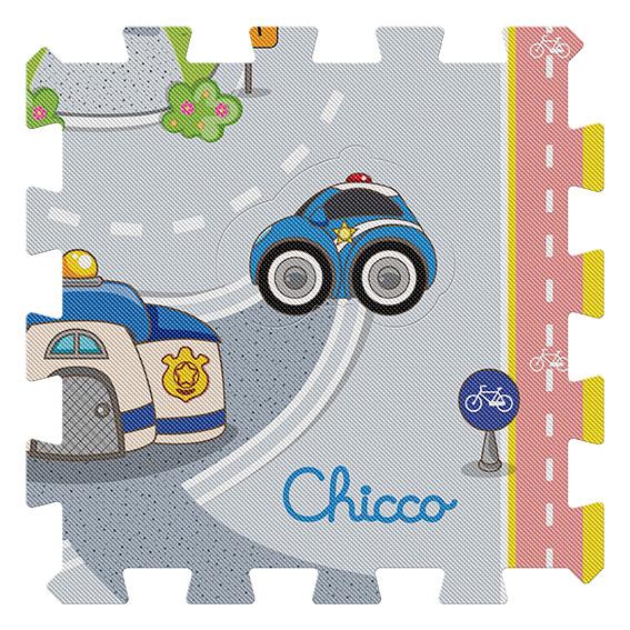 ALTRI Chicco Unisex 0-2 Anni, 3-4 Anni Tappeto Puzzle Città