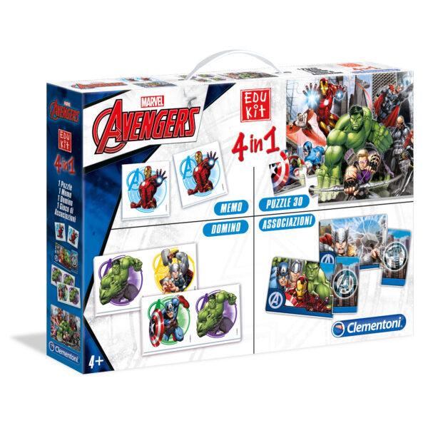 EDUKIT 4IN1 AVENGERS - Marvel - Toys Center Marvel Unisex 12-36 Mesi, 3-5 Anni, 5-8 Anni Avengers
