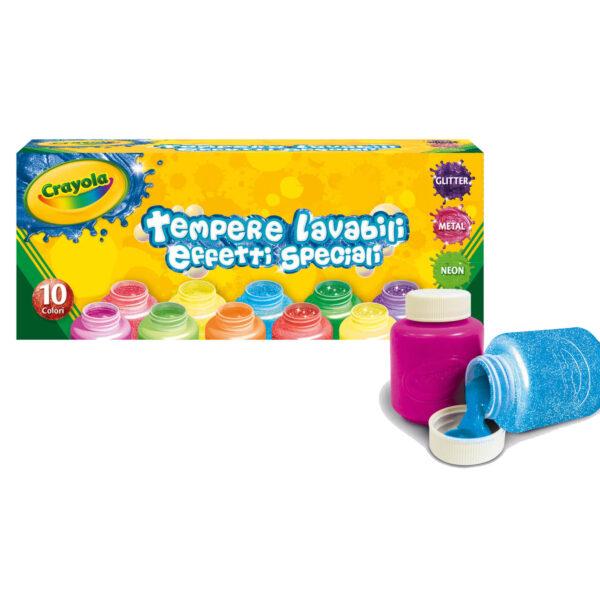 10 Tempere lavabili effetti speciali Crayola ALTRI Unisex 12-36 Mesi, 12+ Anni, 8-12 Anni ALTRO