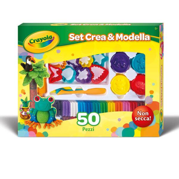 Set Plastilina Crea&Modella 50 pezzi Crayola ALTRO Unisex 12+ Anni, 3-5 Anni, 5-8 Anni, 8-12 Anni ALTRI