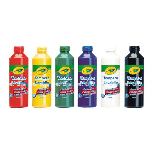 Tempere assortite lavabili 6x250ml Crayola - Altro - Toys Center - ALTRO