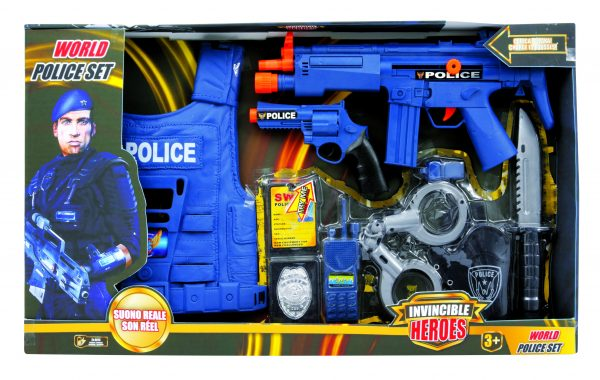 INVINCIBLE HEROES World police set TOYS CENTER Maschio 12-36 Mesi, 12+ Anni, 3-5 Anni, 5-8 Anni, 8-12 Anni INVINCIBLE HEROES