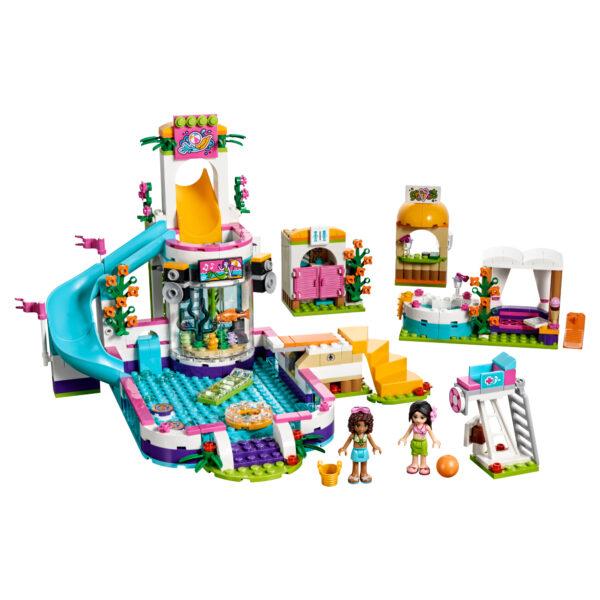 LEGO FRIENDS ALTRI LEGO 41313 - La piscina all'aperto di Heartlake - Lego Friends - Toys Center Femmina 5-7 Anni, 8-12 Anni