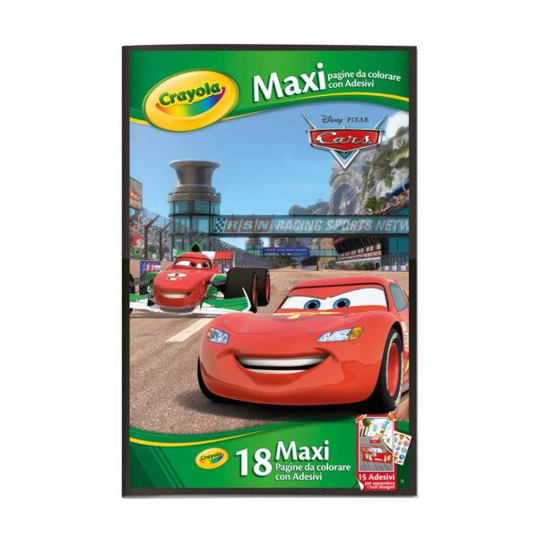 Maxi Pagine con adesivi assortite Frozen, Principesse, Cars ALTRI Unisex 12-36 Mesi, 3-5 Anni, 5-8 Anni CRAYOLA