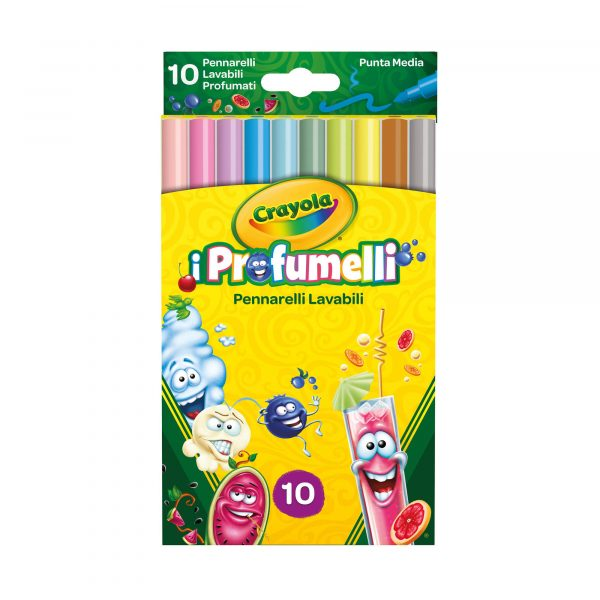 10 Pennarelli lavabili profumati punta media i Profumelli Crayola ALTRO Unisex 12-36 Mesi, 12+ Anni, 3-5 Anni, 5-8 Anni, 8-12 Anni ALTRI