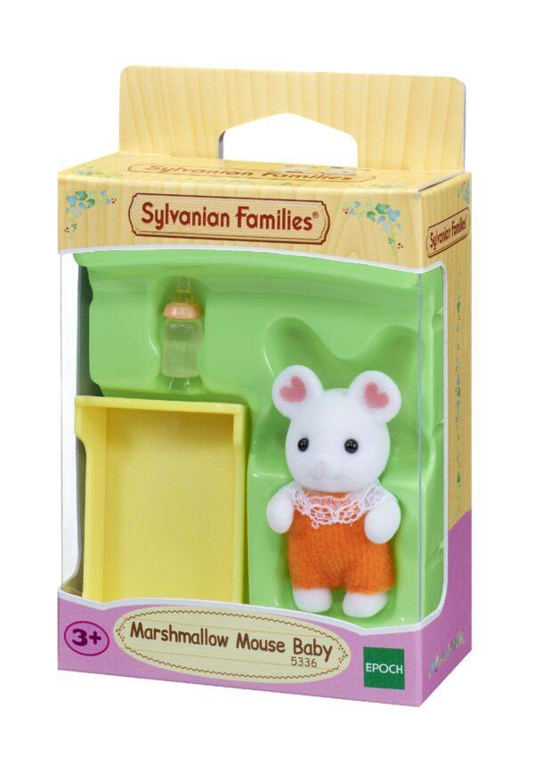 Sylvanian Families - Marshmallow - Bebe Topolino Bianco SYLVANIAN FAMILIES Unisex 12-36 Mesi, 12+ Anni, 8-12 Anni ALTRI