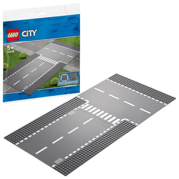 LEGO City Rettilineo e incrocio a T - 60236 LEGO CITY Unisex 12+ Anni, 3-5 Anni, 5-8 Anni, 8-12 Anni ALTRI
