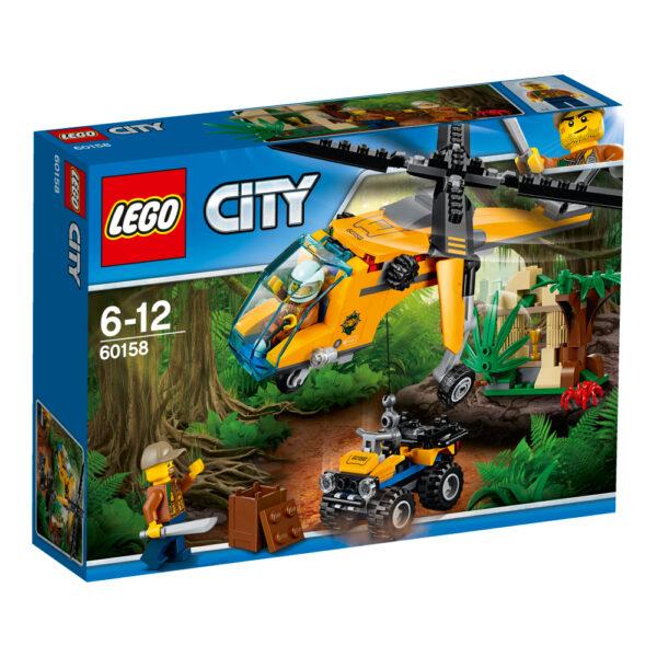 LEGO City - Elicottero da carico della giungla -60158 LEGO CITY Maschio 12+ Anni, 5-8 Anni, 8-12 Anni JURASSIC WORLD