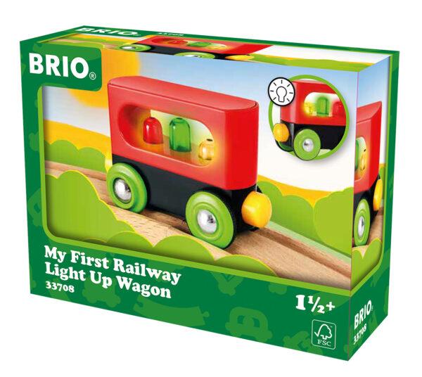 BRIO il mio primo vagone ferroviario con le luci BRIO Unisex 0-2 Anni, 12-36 Mesi, 3-4 Anni, 3-5 Anni ALTRI